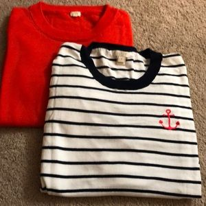Bundle of 2 lightweight medium J Crew sweater